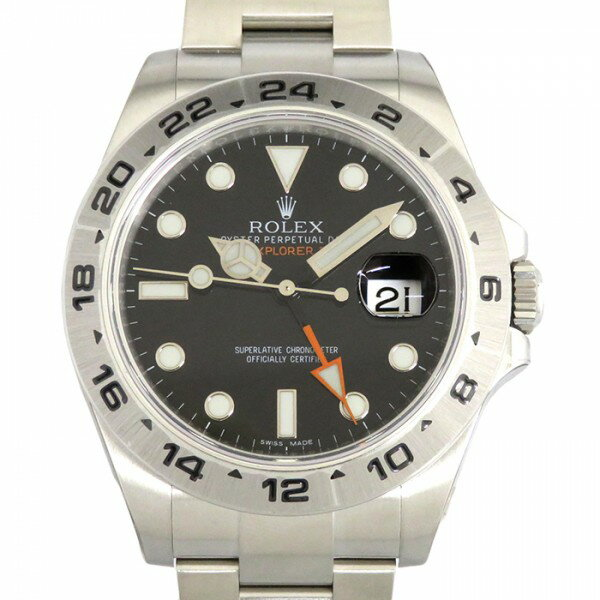 ロレックス ROLEX エクスプローラーII 216570 ブラック文字盤 メンズ 腕時計 【新品】