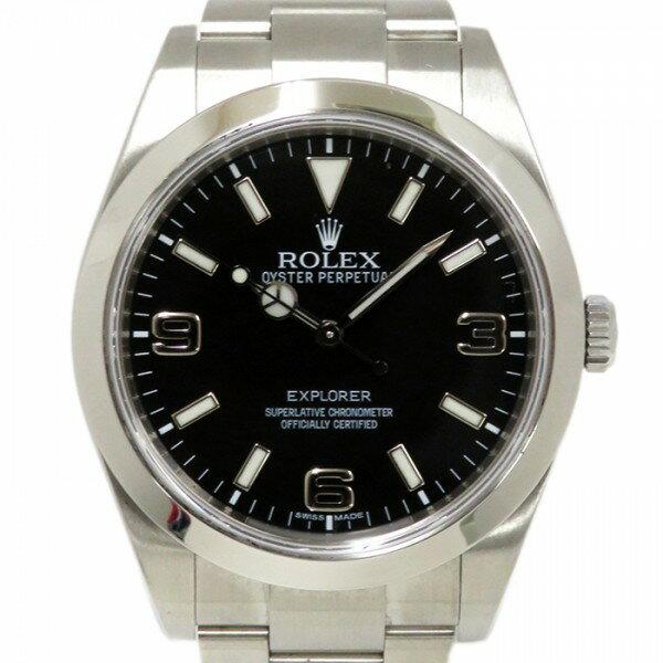 ロレックス ROLEX エクスプローラーI 214270 ブラック文字盤 メンズ 腕時計 【中古】