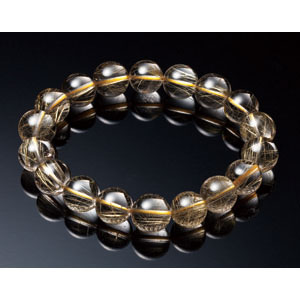最高級AAAAA天然ゴールドルチルブレスレット【6mm珠】【代引き手数料無料】【送料無料】