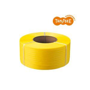 【送料無料】(まとめ)TANOSEE PPバンド 自動梱包機用 黄 15mm×2500m 4巻 (カテゴリー:生活用品>インテリア>雑貨>その他の生活雑貨 )