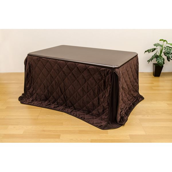 【送料無料】ダイニングこたつテーブル 【掛け布団セット】 長方形 135cm×85cm ブラウン( ブラウン 茶 )