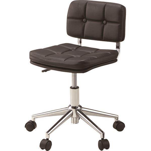【送料無料】(2脚セット)東谷 デスクチェア(椅子) 昇降機能付き スチール/ソフトレザー/合皮 RKC-301BK ブラック(黒) 黒 (カテゴリー:生活用品>インテリア>雑貨>インテリア>家具>椅子>その他の椅子 )