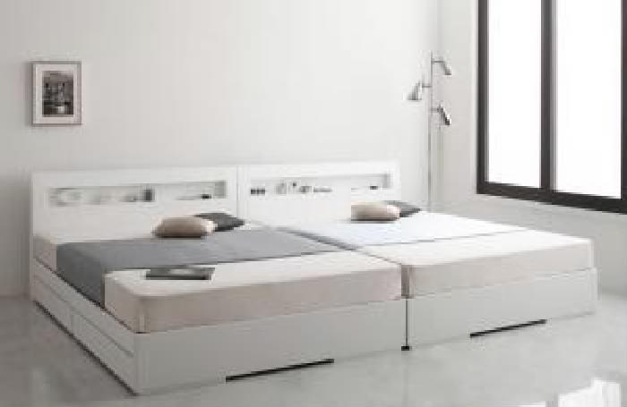 【送料無料】棚・コンセント付きデザイン収納ベッド シルビア マルチラススーパースプリングマットレス付き (幅サイズ セミダブル)(奥行サイズ レギュラー)(フレームカラー ホワイト) セミダブルベッド 中型 ゆったり 1人 白