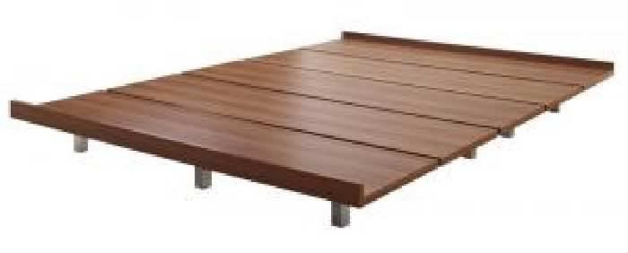 ��料無料】�� デザインボードベッド ボーナ用 ベッドフレーム�� ス�ール脚タイプ (幅サイズ シングル)(フレームカラー ウォルナットブラウン) シングルベッド ��� �型 軽� �スペース 1人 茶