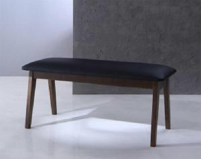 【送料無料】単品 ベンチ ハイバックチェア ウォールナット材 スライド伸縮式ダイニング ジェミニ (2人掛け 座面幅 2P)(座面カラー ホワイト) イス 椅子 白