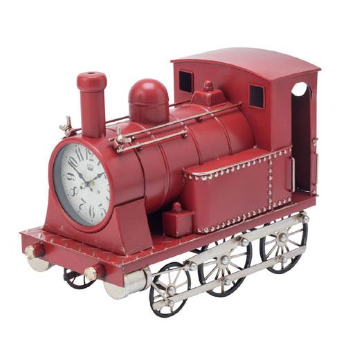 【送料無料】機関車クロック(レッド)31254