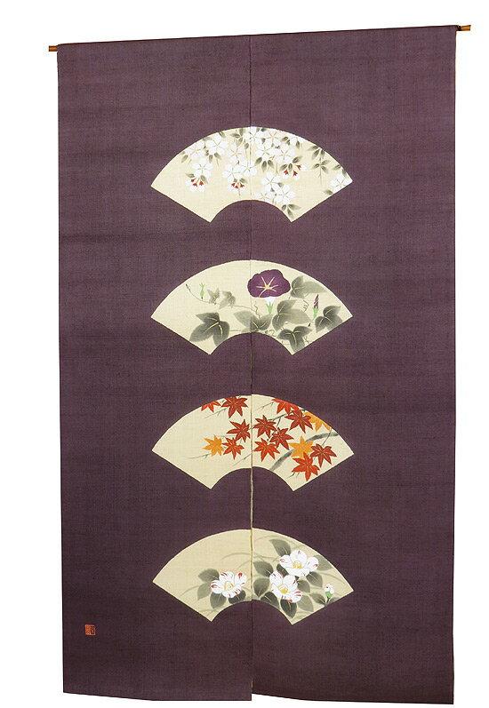 和風暖簾(のれん):扇面 のれん棒別売り