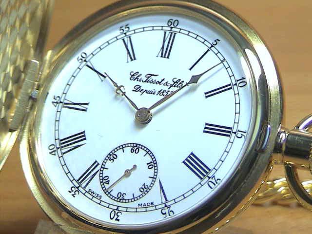 TISSOT ティソ 懐中時計 ポケットウォッチ T83.4.451.13 【文字盤カラー ホワイト】 分割払いもOKです