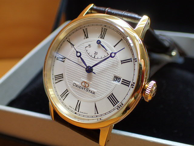 オリエントORIENT 腕時計 ORIENTSTAR オリエントスター エレガントクラシック 機械式 自動巻き (手巻き付き) ウォームホワイト WZ0321EL メンズ