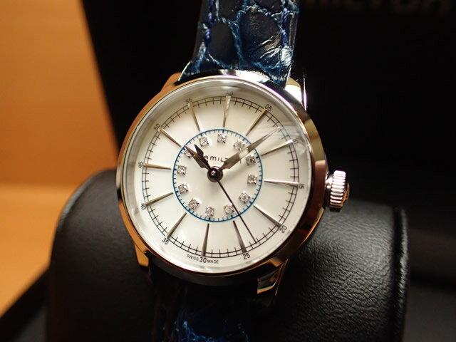 �ミルトン 腕時計 HAMILTON レイルロード レディ 12P ダイヤ H40311691 レディース �正�輸入�】