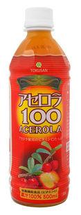 送料無料アセロラ100(ペットボトル) 500ml ×24本