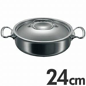 【送料無料】deBUYER Affinity デバイヤーアフィニティ IH対応 ソテーパン 蓋付 3741-24cm