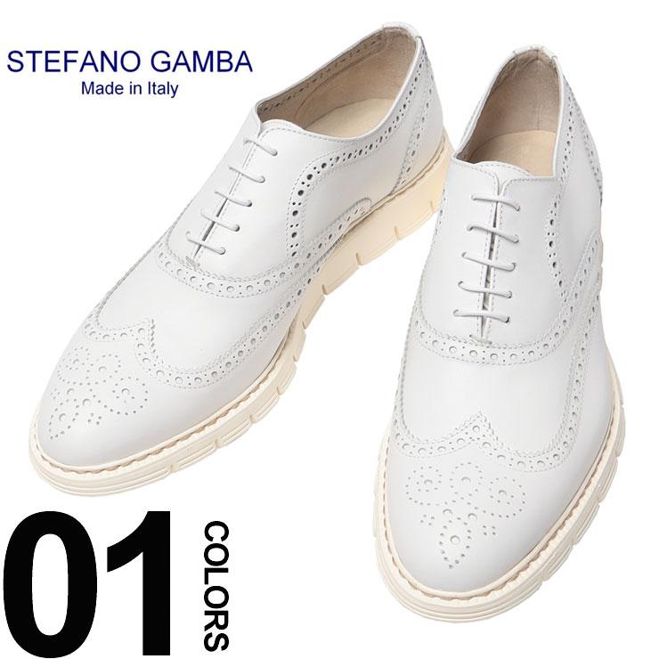 ステファノガンバ STEFANO GAMBA レザー パンチング加工 レースアップ シューズ ブランド メンズ 男性 カジュアル ファッション パンチングレザー SG1060SEQUOIA 【zenonline】