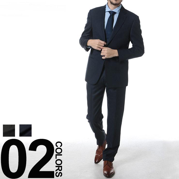 アルマーニコレツィオーニ ARMANI COLLEZIONI シルク混 シングル 2ツ釦 ノータック スーツ ブランド メンズ 男性 紳士 ビジネス シルク ウール ビジネススーツ シングルスーツ 【GAVCGCAVC241】 【dl】brand