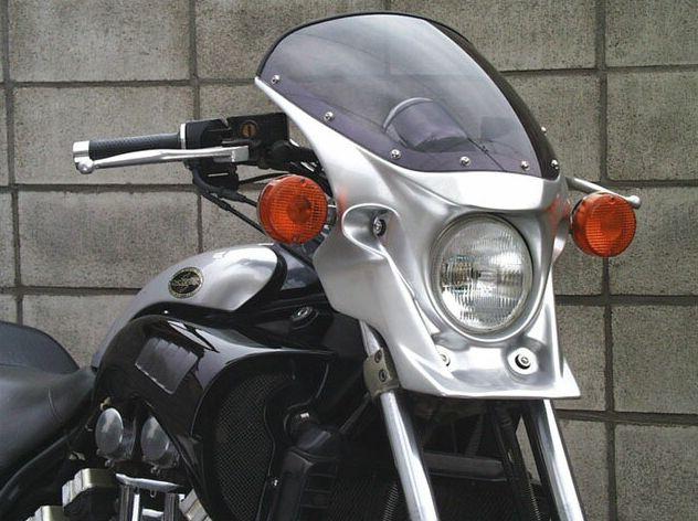 激安セール V-MAX1200(~08年) マスカロード スモークスクリーン ニューシルバーダスト(003H) 通常スクリーン CHIC DESIGN(シックデザイン)