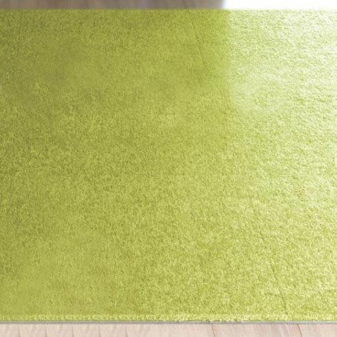 川島織物セルコン Unit Rug(ユニットラグ) ソフティライン プレーン 50×50cm 6枚入り UR1474・イエローグリーン