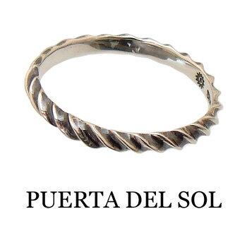 PUERTA DEL SOL(プエルタデルソル)【R1070】 インパラホーン バンド リング 指輪【シルバー950】[5号~21号]【メンズリング レディースリング ペアーリング ゴールドリング シルバーリング マリッジリング】【ギフト包装-対応】