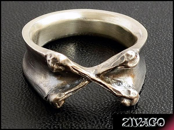 ペアリング クロスボーン シルバー 925 silver RING CROSS BONE zw-038m zivago ジヴァゴ