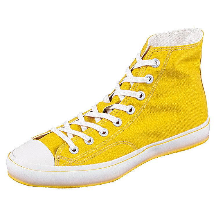 【MOONSTAR FINE VULCANIZED】HIBASKET G イエロー 23.5cm スニーカー 靴【ムーンスター ファインヴァルカナイズ】