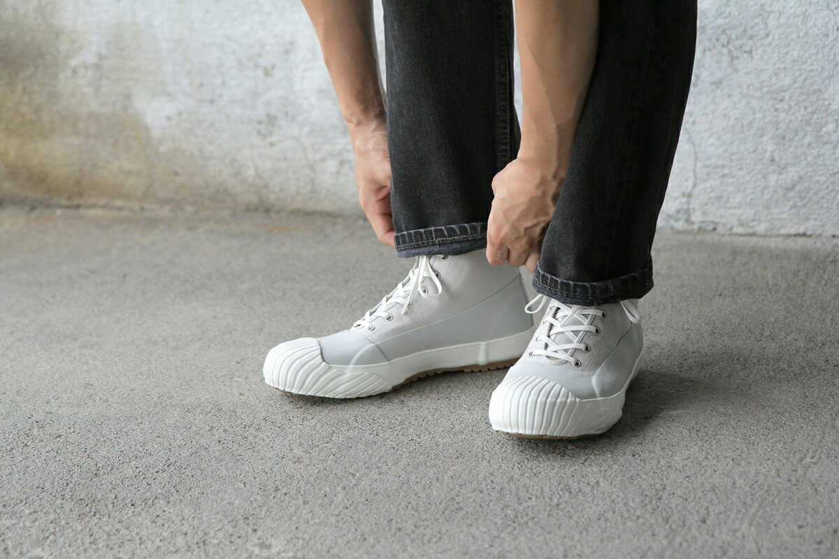 【MOONSTAR ALWEATHER】限定カラー グレーホワイト 25.0cm スニーカー 靴【ムーンスター オールウェザー】 クリスマス CM 全天候型 ハイカット