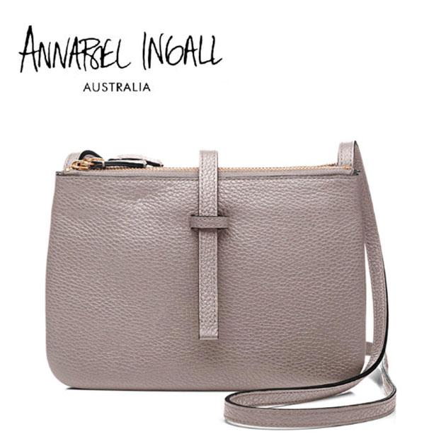 【送料無料】【CLASSY 雑誌掲載】≪Annabel Ingall≫ アナベル・インガル本革レザー トープ 取り外し可能 2WAY アイコンバッグ ショルダーバッグ JOJO Lether Bag (Zinc)【レディース】