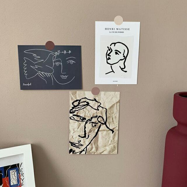 ネコポス送料無料 Henri Matisse アンリ・マティス アートポストカード 3枚セット 【art of black】
