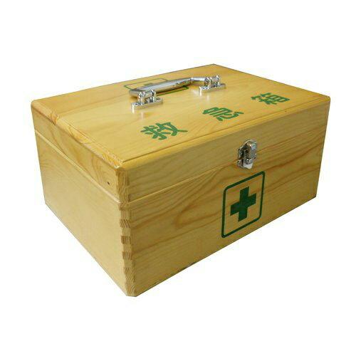 【あわせ買い2999円以上で送料無料】リーダー 木製救急箱 Mサイズ