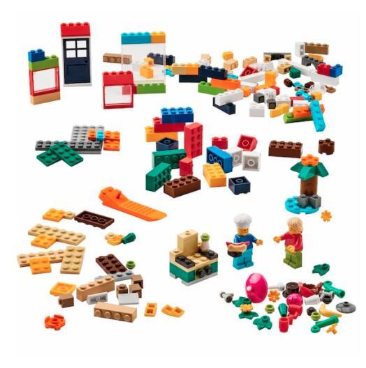【NEW】IKEA イケア BYGGLEK ビッグレクレゴ®ブロック201ピースセット, ミックスカラー305.098.41