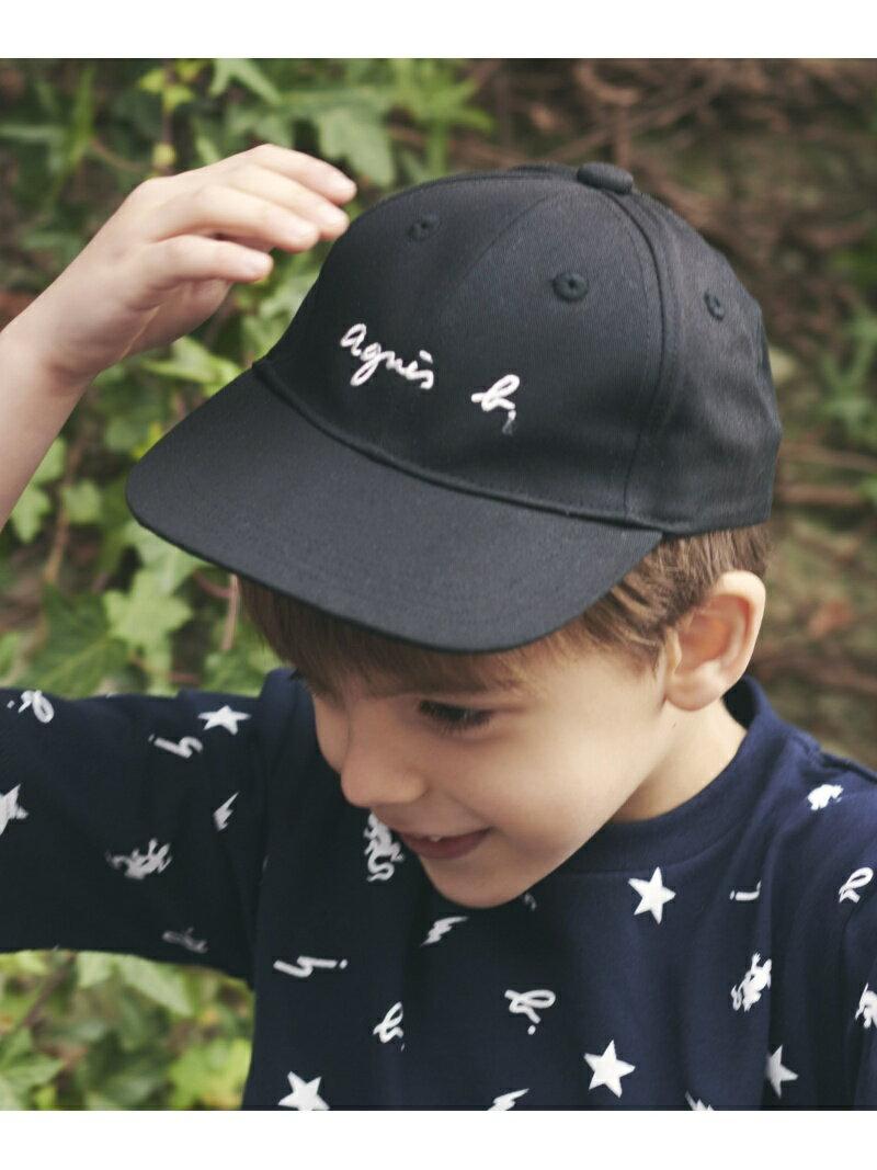 agnes b. ENFANT ENFANT/(K)GL11 E CAS キッズ ロゴキャップ アニエスベー 帽子/ヘア小物 キャップ ブラック【送料無料】