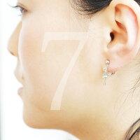 イニシャルナンバーピアスイヤリングに変更可能両耳プチプラ2文字選べるアルファベット数字背番号シンプルシルバーカラープレゼントギフト記念日ラッキーナンバー誕生日Lucca
