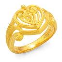 純金 指輪 ハート リング レディース 女性 イエローゴールド ギフト プレゼント 誕生日 贈物 24金 ジュエリー アクセサリー ブランド 地金 品質保証 人気 プリマゴールド PRIMAGOLD K24 送料無料
