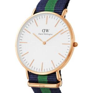 DanielWellington0105DWClassicWarwickダニエルウェリントンクラシックワーウィックユニセックス腕時計ファブリック×ステンレスネイビー×グリーン×ホワイト