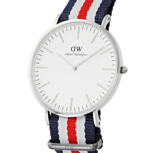 DanielWellington0202DWClassicCanterburyダニエルウェリントンクラシックカンタベリーユニセックス腕時計ファブリック×ステンレスネイビー×ホワイト×レッド×ホワイト