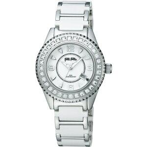 FOLLIFOLLIEWF5T138BDWフォリフォリ腕時計シルバ・ホワイトベルト