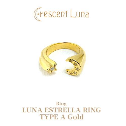 送料無料!CRESCENT LUNA(クレセントルナ)LUNA ESTRELLA RING TYPE A GOLD リング/指輪/ゴールド/...