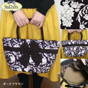 【NaRaYa】ナラヤシックな柄プリント・ハンドバッグ(3種)アジアン雑貨販売