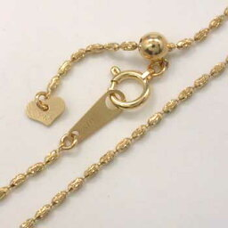 あす楽 長さ45センチラグビーボール型ネックレス(ヘアラインミラーチェーン)ゴールド、ホワイトゴールド、ピンクゴールド、イエローゴールドの鎖4種類ございます(幅1.2mm 長さ45cm/長さ調整可能式)あす楽 送料無料