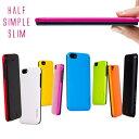 【iPhone5/5s ケース】araree Half(ハーフ)バータイプ ポリカーボネート カード1枚収納可能、電波干渉防止シート1枚