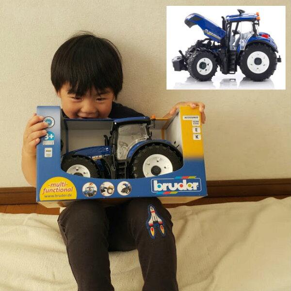 「割引クーポン配布中お買い物マラソン」あす楽農業車農業機械NHT7.315トラクターBR03120bruderブルーダー知育玩具