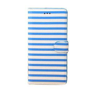 iPhone6 Plus 手帳 ケース レザー (5.5インチ) カード収納/ウォレット/財布型ケース アイフォン 6 Plus カバー 液晶保護 革 レザーケース 縞模様 かわいいくておしゃれなストライプ iPhone6Plus ケース【RCP】05P20Sep14