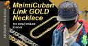 メンズ ネックレス 太め ゴールド チェーンネックレス マイアミ キューバン 金 銀 ヒップホップ HIPHOP ストリート
