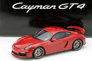 GT スピリット 1/18 ポルシェ ケイマン GT4 981 2015 レッド 350台限定