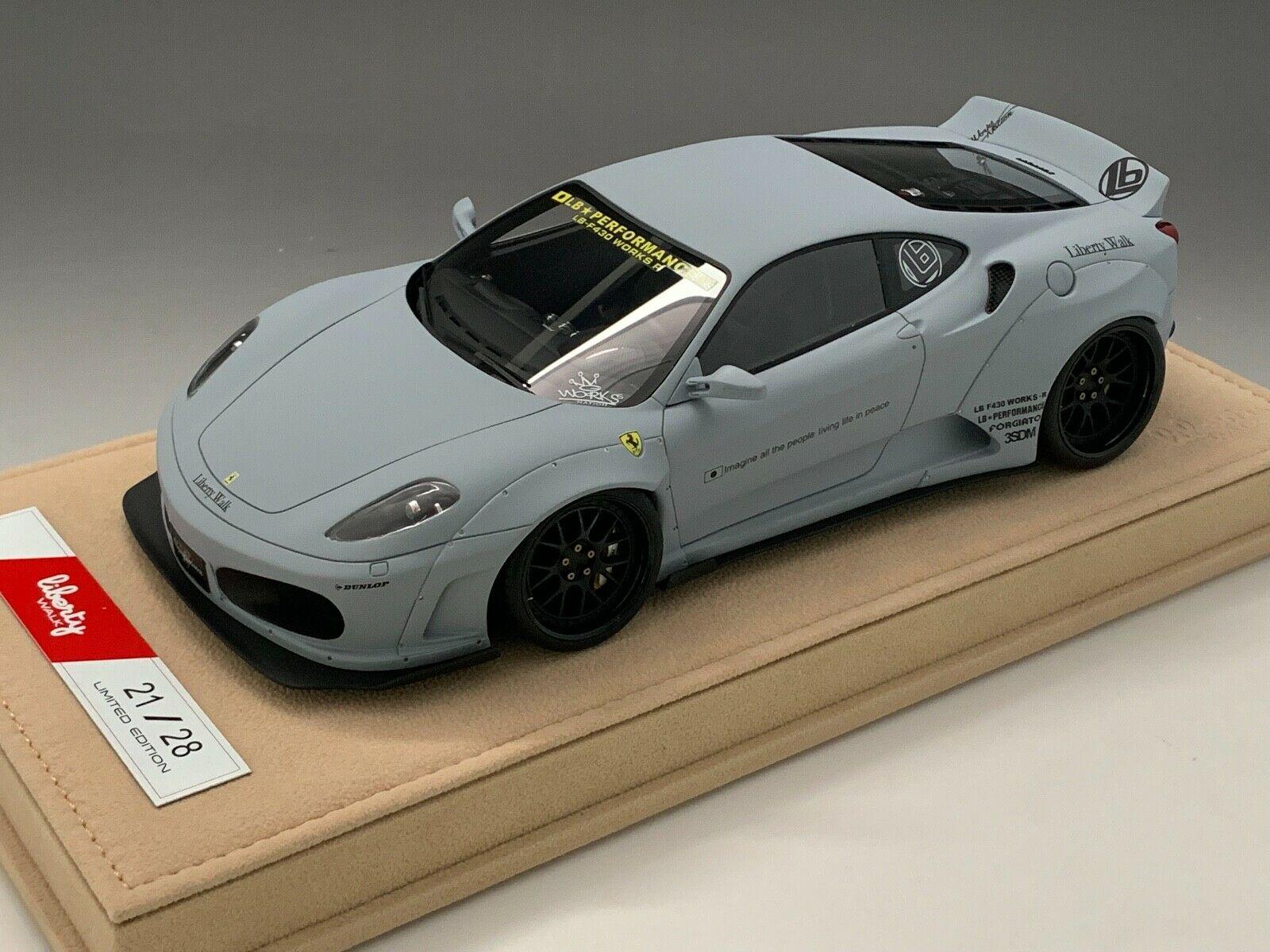 車, ミニカー・トイカー LB WORKS 118 430 LB N BBR or MR Ferrari 430 Liberty Walk LB Performance in Zero Fighter Grey