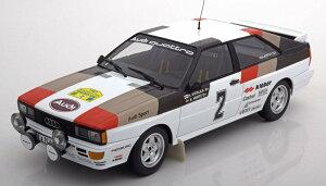 ミニチャンプス 1/18 アウディ クワトロ ラリー スウェーデン 1981 優勝車 504台限定 Audi Quattro Winner Rally Sweden 1981 Mikkola/Hertz Limited Edition 504 pcs.
