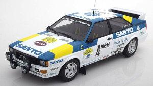 ミニチャンプス 1/18 アウディ クワトロ ラリー スウェーデン 1982 優勝車 350台限定 Audi Quattro Winner Rally Sweden 1982 Blomqvist/Cederberg Limited Edition 350 pcs