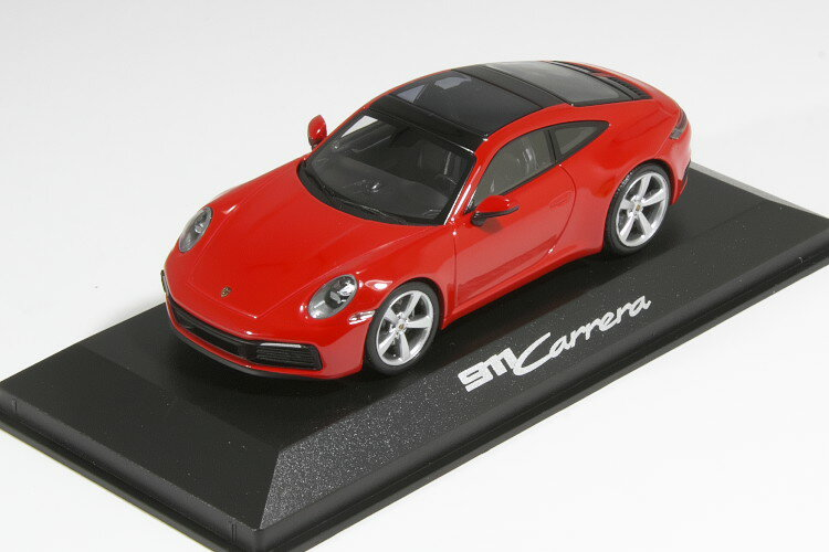 車, ミニカー・トイカー  143 911 992 2S 2019 PORSCHE CARRERA COUPE RED BLACK