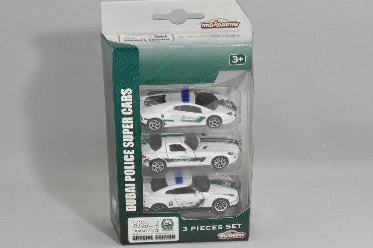車, ミニカー・トイカー majorette 3 Dubai Police Super Cars R35 GT-R SLS AMG