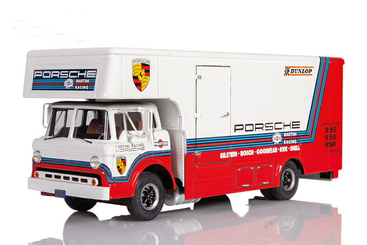 車, ミニカー・トイカー Exoto 143 1976 race car transporter Martini Porsche Racing Team