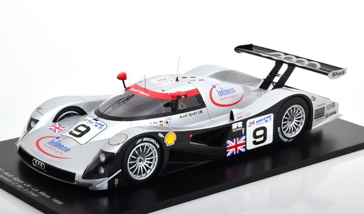 車, ミニカー・トイカー  118 R8C 9 1999 Audi 24h Le Mans OrtelliJohanssonAbt