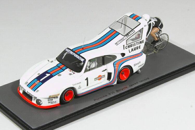 車, ミニカー・トイカー  143 935 Porsche 935 MARTINI N 1 BICYCLE SPEED RECORD 1977 Cycliste JEAN-CLAUDE RUDE